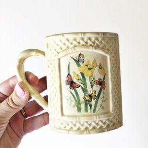 Vintage Enesco Butterfly Garden Trellis Coffee Mug